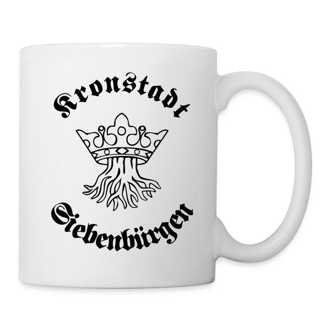 Tasse 'Kronstadt in Siebenbürgen' - Wurzel und Krone aus dem Wappen der Stadt im Burzenland