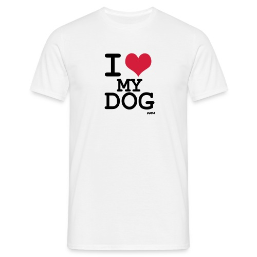 T-shirt I love my dog - T-shirt Homme