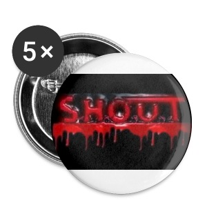 S.H.O.U.T - Blood Logo Buttons - Rintamerkit pienet 25 mm