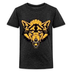 Teenage Premium T-Shirt - Gold Wolf - Teenage Premium T-Shirt