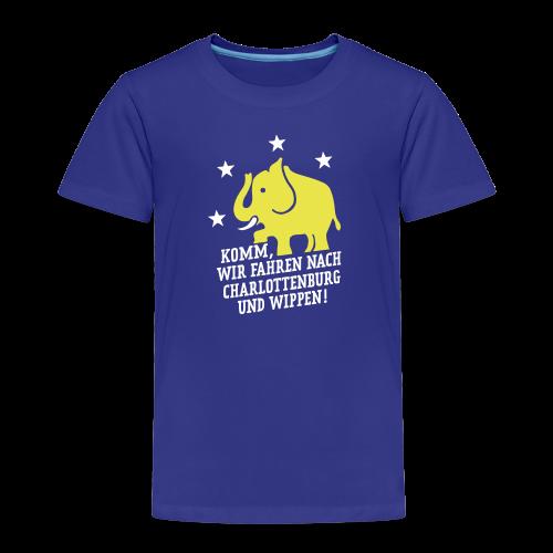Komm, wir fahren nach Charlottenburg und wippen - Kinder Premium T-Shirt