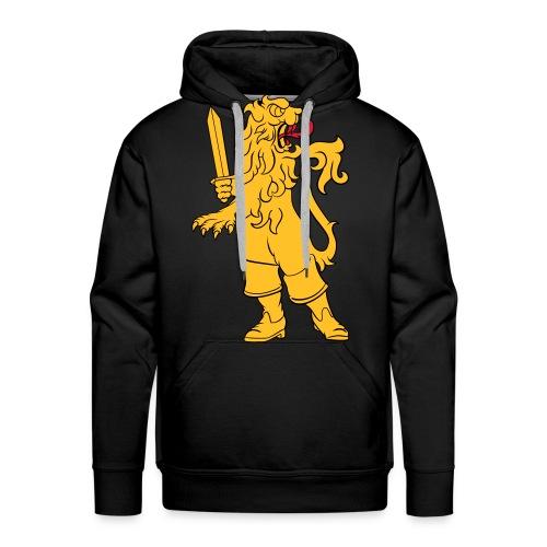 Heraldic lion in boots - Premiumluvtröja herr