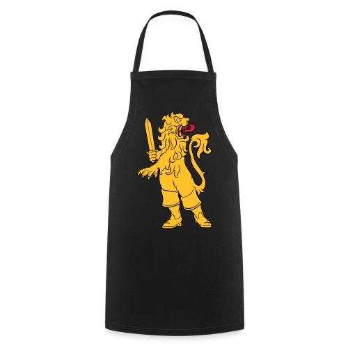 Heraldic lion in boots - Förkläde