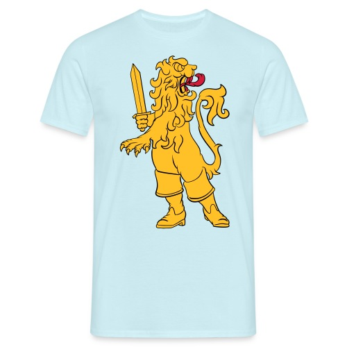 Heraldic lion in boots - T-shirt herr