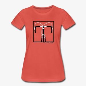 Dames t-shirt premium kwaliteit met racefiets stuurprint - Vrouwen Premium T-shirt