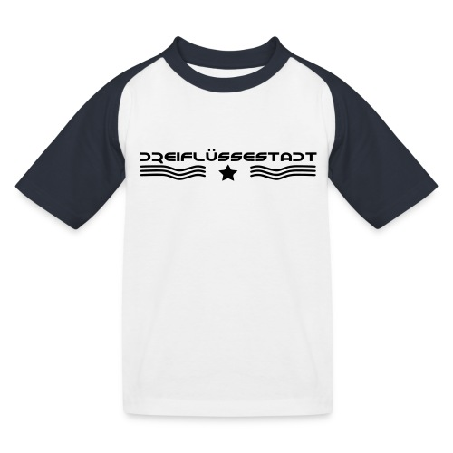 3FS Kinder Baseball Shirt schwarz/weiß - Kinder Baseball T-Shirt