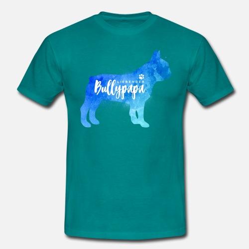 Liebender Bullypapa - Männer T-Shirt