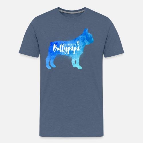 Liebender Bullypapa - Männer Premium T-Shirt