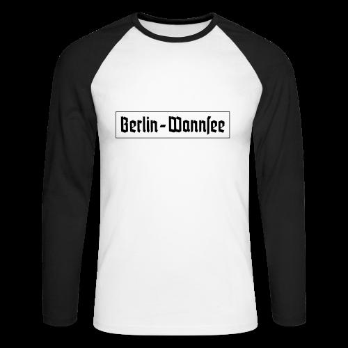 Berlin Wannsee Fraktur - Männer Baseballshirt langarm