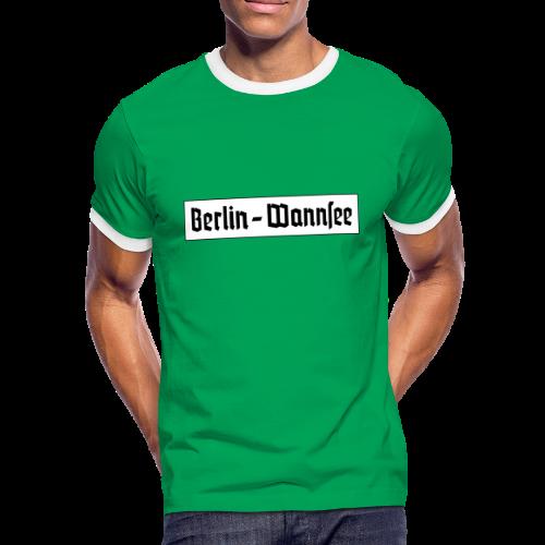 Berlin Wannsee Fraktur - Männer Kontrast-T-Shirt