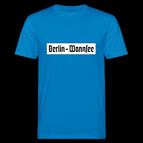 Berlin Wannsee Fraktur - Männer Bio-T-Shirt