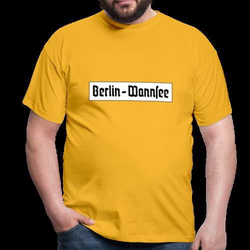 Berlin Wannsee Fraktur - Männer T-Shirt