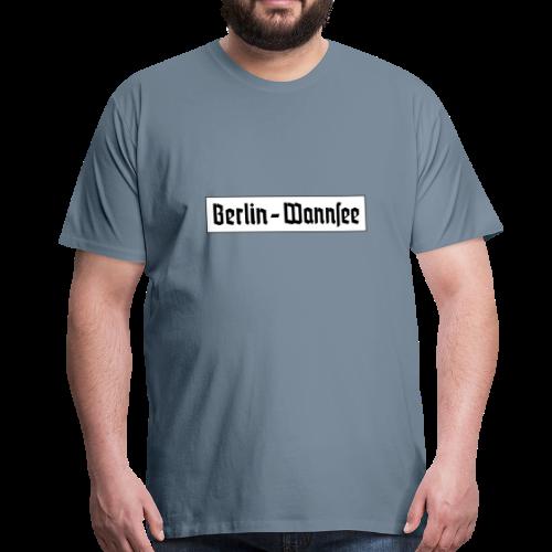 Berlin Wannsee Fraktur - Männer Premium T-Shirt