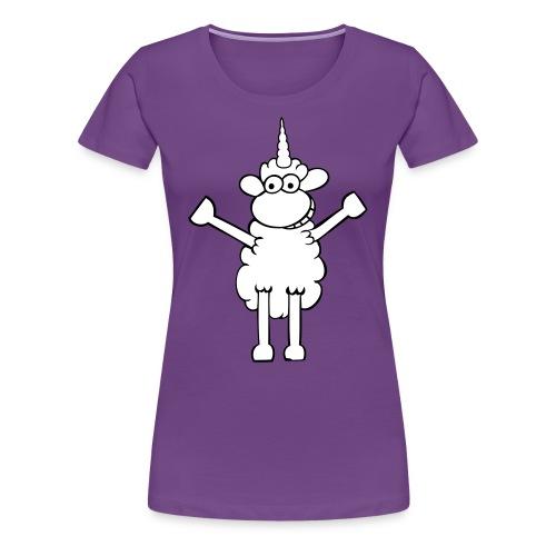 Einhornschaf - Frauen Premium T-Shirt
