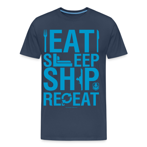 EatSleepShip Collection - Men's T-Shirt - Men's Premium T-Shirt