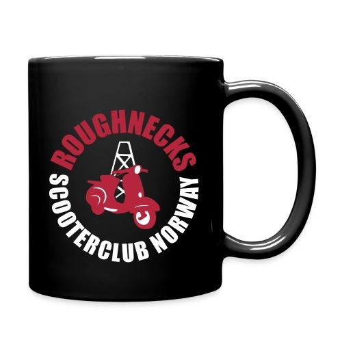 Roughnecks kopp, svart, tosidig trykk - Ensfarget kopp