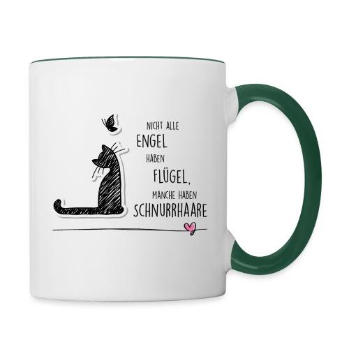 Cat Angel - Tasse zweifarbig - Tasse zweifarbig