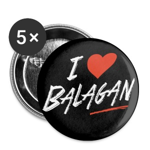 Balagan love, badge/button, 25mm - Buttons small 25 mm