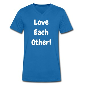 Love Each Other - Original-V-Neck - Men's Organic V-Neck T-Shirt by Stanley & Stella