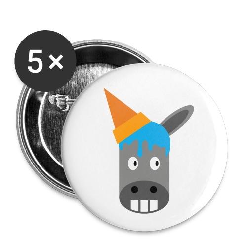 FrozenDonkey Button Esel - Buttons klein 25 mm (5er Pack)