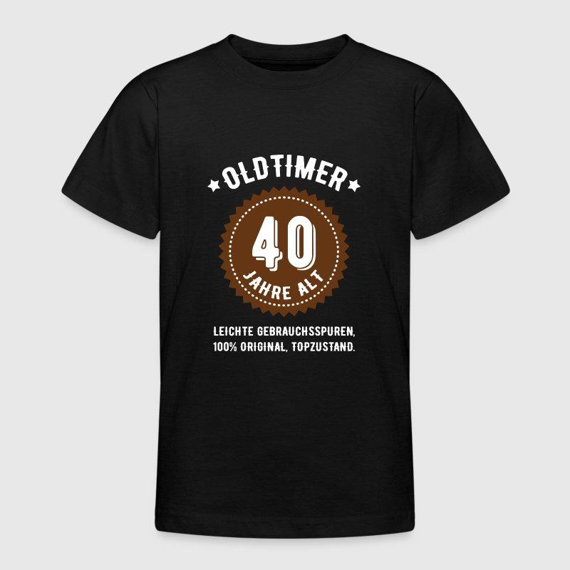geburtstag 40 jahre oldtimer t shirt spreadshirt. Black Bedroom Furniture Sets. Home Design Ideas