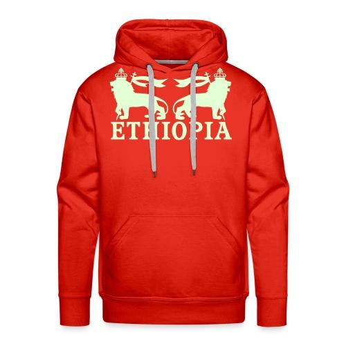 ETHIOPIA PHOSPHORESCENT - Sweat-shirt à capuche Premium pour hommes