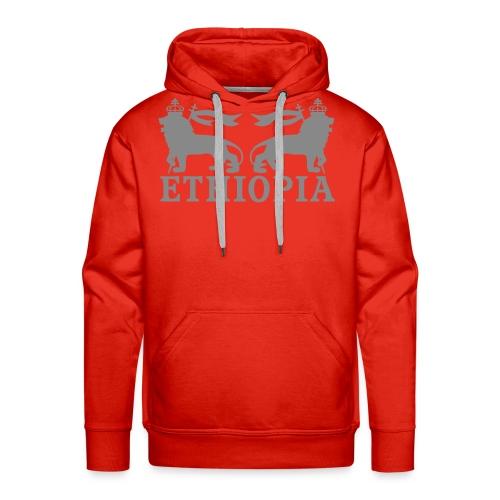 ETHIOPIA ARGENT - Sweat-shirt à capuche Premium pour hommes