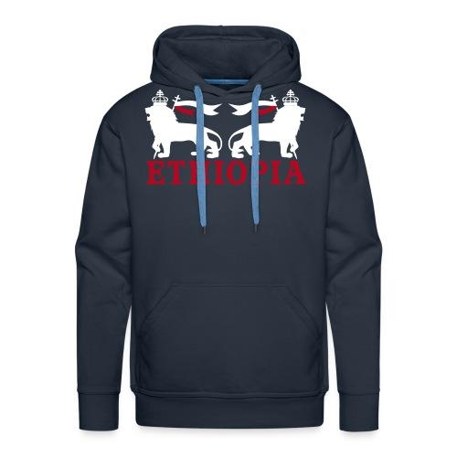ETHIOPIA BLANC - Sweat-shirt à capuche Premium pour hommes