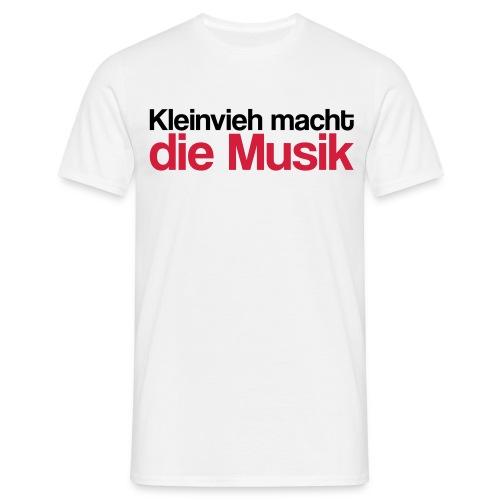 Kleinvieh Musik - Männer T-Shirt