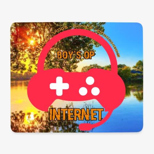 Boys op internet Muismat - Muismatje (landscape)
