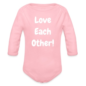 Love Each Other - Original - Organic Longsleeve Baby Bodysuit