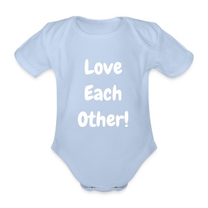 Love Each Other - Original - Organic Short-sleeved Baby Bodysuit