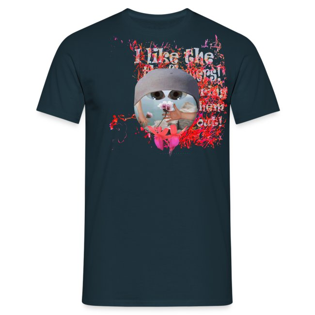 T-shirt herre, I like the flowers.