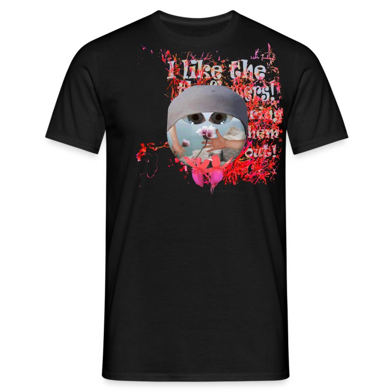 T-shirt herre, I like the flowers. - Herre-T-shirt