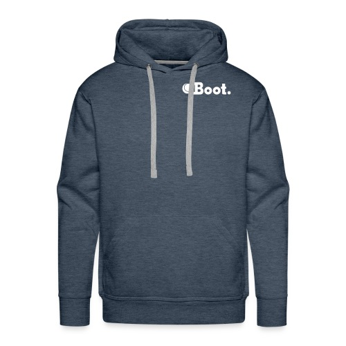 Brown with white DT logo on reverse - click to choose colour - Men's Premium Hoodie
