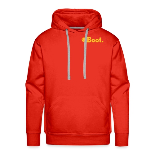 Red with yellow gold DT logo on reverse - click to choose colour - Men's Premium Hoodie