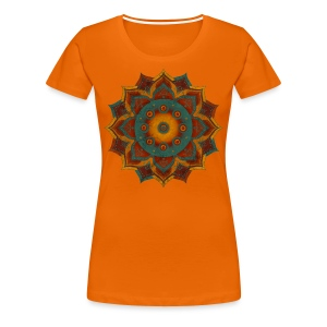 Handpan - Hang Drum Mandala teal red - Frauen Premium T-Shirt