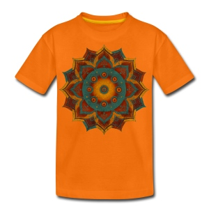Handpan - Hang Drum Mandala teal red - Teenager Premium T-Shirt