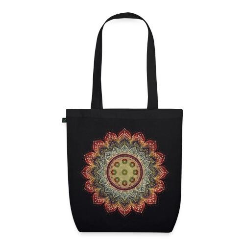 Handpan - Hang Drum Mandala earth colors - Bio-Stoffbeutel