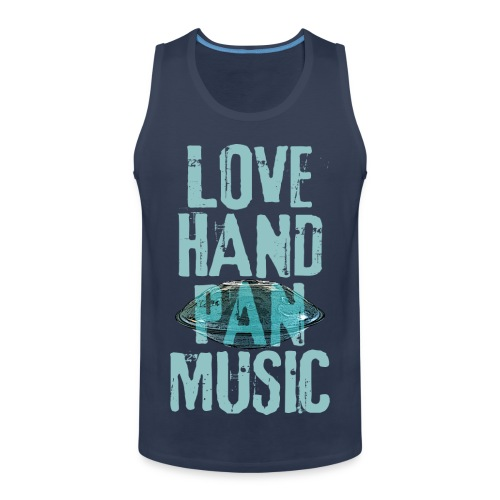 LOVE HANDPAN MUSIC - hang drum - Männer Premium Tank Top