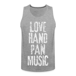 LOVE HANDPAN MUSIC - fractal white - Männer Premium Tank Top