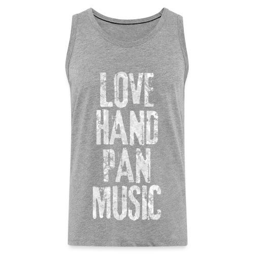 LOVE HANDPAN MUSIC - fractal white - Männer Premium Tank Top