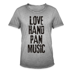 LOVE HANDPAN MUSIC - black - Männer Vintage T-Shirt