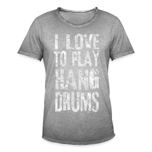 I LOVE TO PLAY HANG DRUMS - fractal white - Männer Vintage T-Shirt