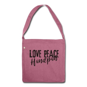 LOVE PEACE Handpan black - Schultertasche aus Recycling-Material