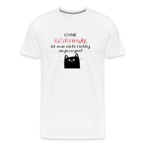 Herren-Premium-T-Shirt mit Spruch KATZENHAARE - Männer Premium T-Shirt