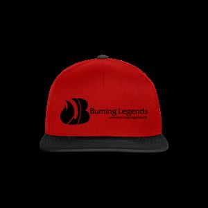 Snapback Cap in rot-schwarz - Snapback Cap