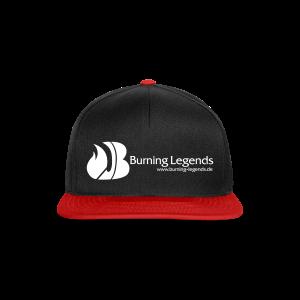 Snapback Cap in schwarz-rot - Snapback Cap