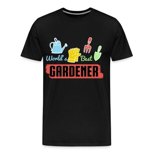 Worlds Best Gardener T-Shirts - Männer Premium T-Shirt