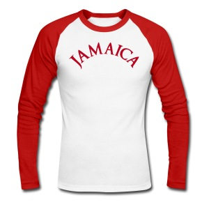 JAMAICA ROUGE - T-shirt baseball manches longues Homme